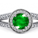 Finsh Diamond Ring with Sandawana Emeralds