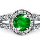 Finsh Diamond Ring with Sandawana Emeralds