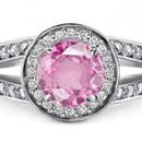 Pink sapphire & white topaz Gemstones silver Ring Size 7 8 9