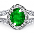14k Gold Emerald Diamond Rings, Diamond Emerald Rings
