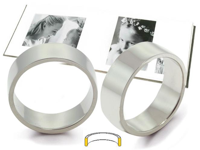 Platinum Flat Comfort Fit Wedding Rings