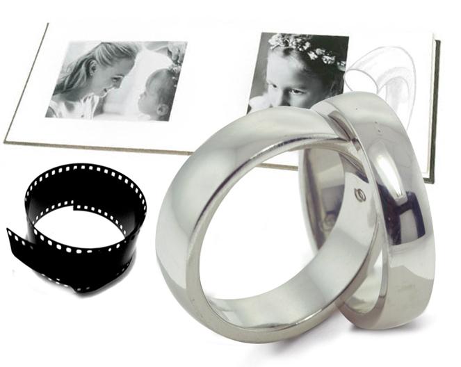 Platinum Wedding Rings Comfort Fit Iridium Alloy Pipe Cut