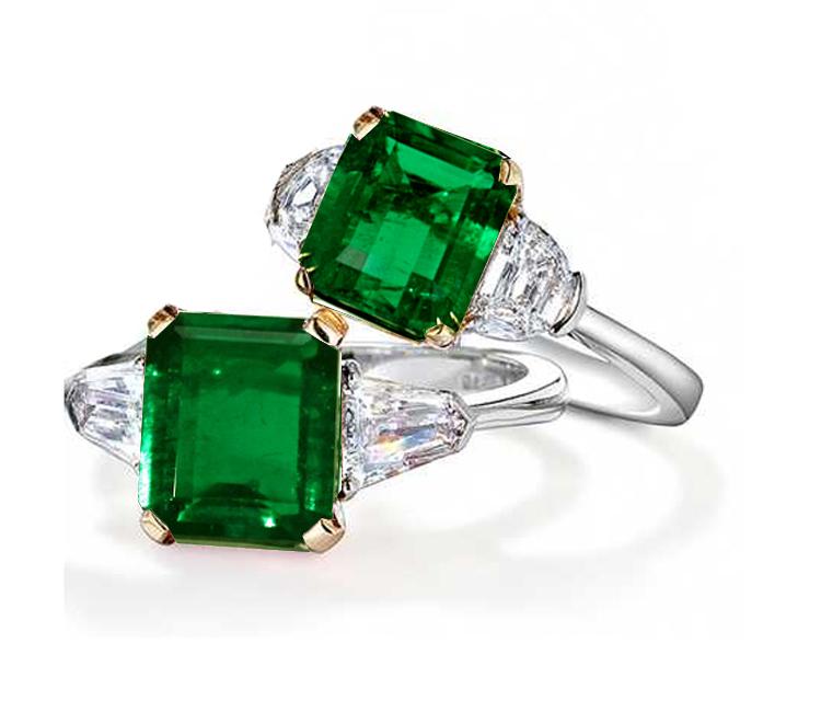 emerald ring: