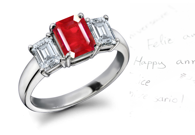 Think Ruby and Diamond Rings | Ruby Diamond Rings | Ruby Engagement