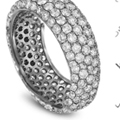 no better compliment to a womens finger than a circle of sparkling and glittering diamonds