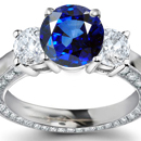 Finsh Diamond Ring with Ceylon Sapphires