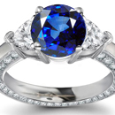 Baken Diamond Ring with Genuine Sapphires