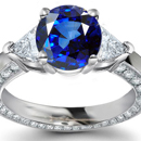 Diamond Ring with Burma Sapphires