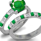 Edwardian Emerald Ring with Diamonds