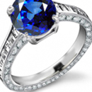 Violetish Blue Hue And Medium Tone Ceylon Sapphire Ring with Diamonds