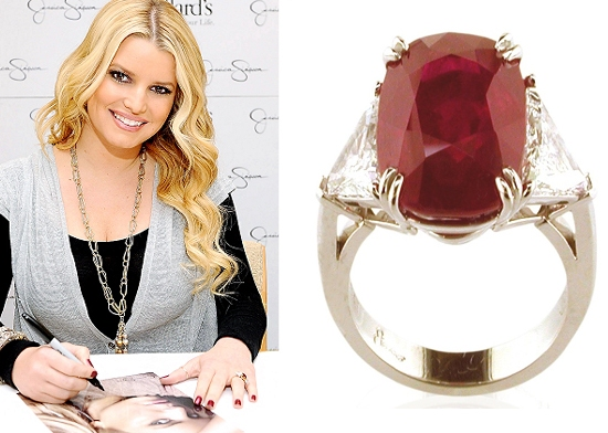 Jessica Simpsons Ruby Engagement Ring