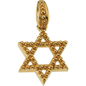 Star of David Yellow Gold Pendant with granulation