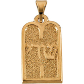 Yellow Gold Ten Commandments Pendant