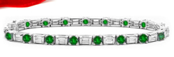 Diamond & Emerald Bracelets