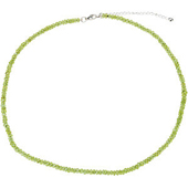 Genuine peridot bracelet in sterling silver
