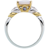Real Tanzanite White and Yellow Gold Ring