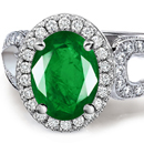 Platinum Emerald Diamond Engagement Rings Wedding Bands