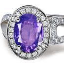 Purple Sapphire Diamond Rings Reviews