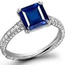Mens Antique Sapphire Ring