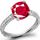 14K Yellow Gold Flush Setting Ruby Ring