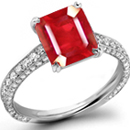 Ruby Cameo Ring in Japanese Ring Size 15