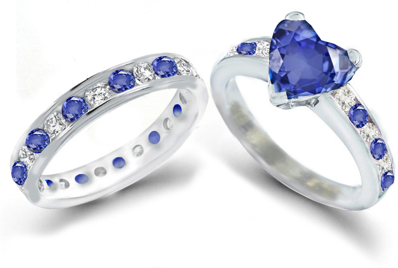 heart sapphire rings romancing with sapphires sapphire ring gallery - Blue Wedding Rings