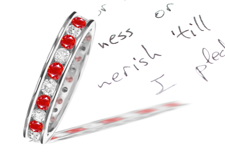 ruby anniversary bands ruby diamond wedding bands ruby diamond eternity band ruby rounds diamond rounds channel set eternity bands platinum ruby eternity ring platinum ruby diamond alternated channel set eternity ring ruby round diamond rouns channel set eternity ring
