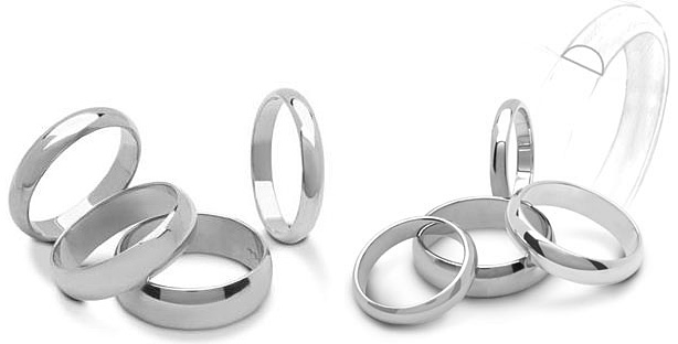 Stock PHIL17 30 Platinum Half Round Ring 3 Mm Wide 17 Thick In Size To 8 For 48000