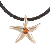 Real Opal Starfish Gold Pendant