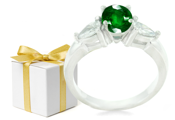 Emerald Wedding Anniversary Gifts: Emerald Cut Engagement Rings