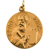St. Paul Yellow Gold Medal . In Stock in both Gold and Sterling Silver