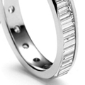 bagguette diamond eternity wedding band