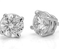 Platinum Studs with Round Diamonds