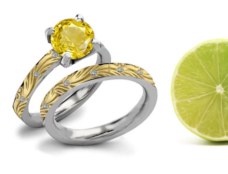 designer colored gemstones engagement wedding rings