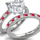 Ruby Anniversary Ring with Diamonds
