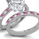 Rare Fine Deep Blue Sapphire Rings White Gold