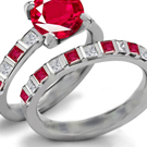 Art Noveau Ruby Ring Design with Diamonds