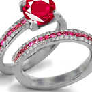 Victorian Ruby Ring Design with Diamonds