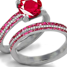 Ceylon Ruby Ring with Diamonds