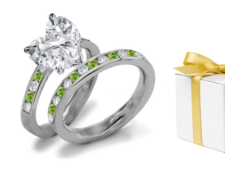 green diamond jewelry enement rings at sndgems co - Green Wedding Rings
