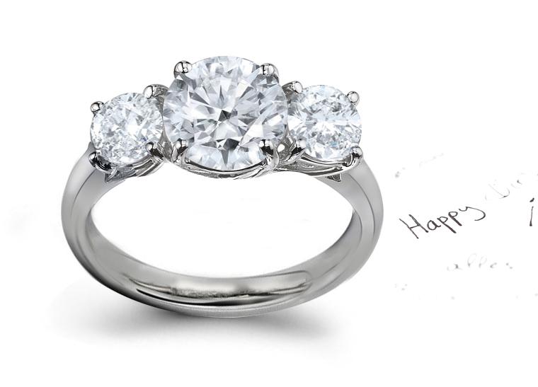 Rings three stone rings three stone diamond rings three stone aloadofball Gallery