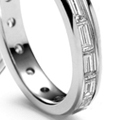 baggette diamond eternity wedding ring