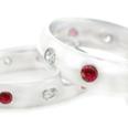 iviniti 14-Karat White Gold Ruby and Diamond Ring