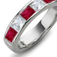 18k White Gold, Amethyst, Ruby, Sapphire, Diamond & Tsavorite Garnet Ring (14.40 ctw)