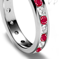 2.65 ct. t.w. Ruby and Antique-Style Diamond Ring In 18kt White Gold
