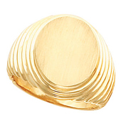 Mens Gold Signet Ring