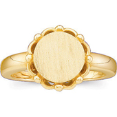 Womens Gold Signet Ring
