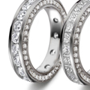 attractive clusters of all diamonds, one important, surrounded by eight others of fair or desirable size