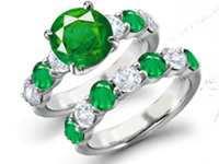 Emerald jewel as earthy as you�ve ever seen with flashes of verdant, gorgeous green that usually only show up around spring.