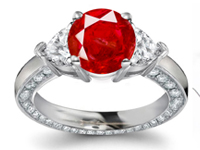 Ruby is the King of Gems - a gem of passion, of smoldering desire